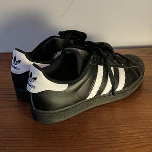 ADIDAS black, classic Superstar sneakers